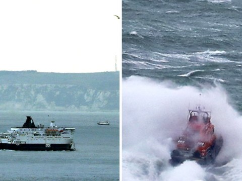 Four children and six adults rescued from dinghy in freezing English Channel