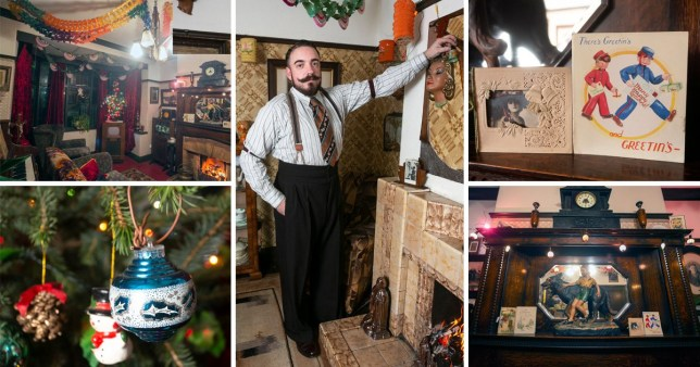 A man obsessed with the 1930s has given his home a retro Christmas makeover from the bygone era