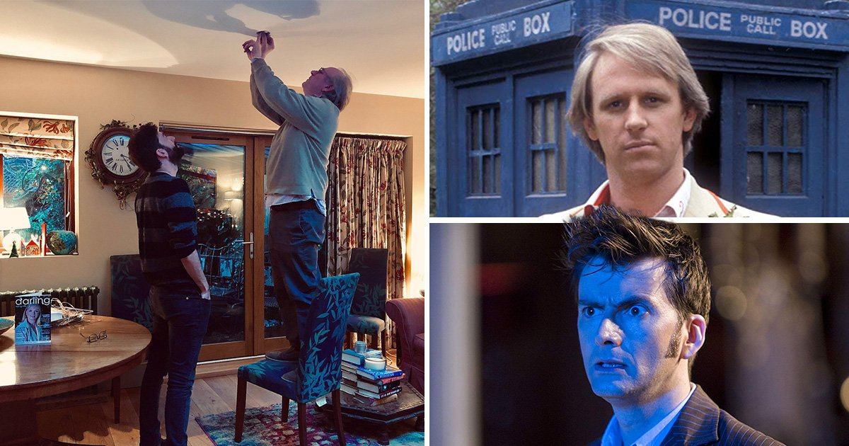 It takes two Doctor Who legends to change a lighbulb as David Tennant and Peter Davison attempt DIY