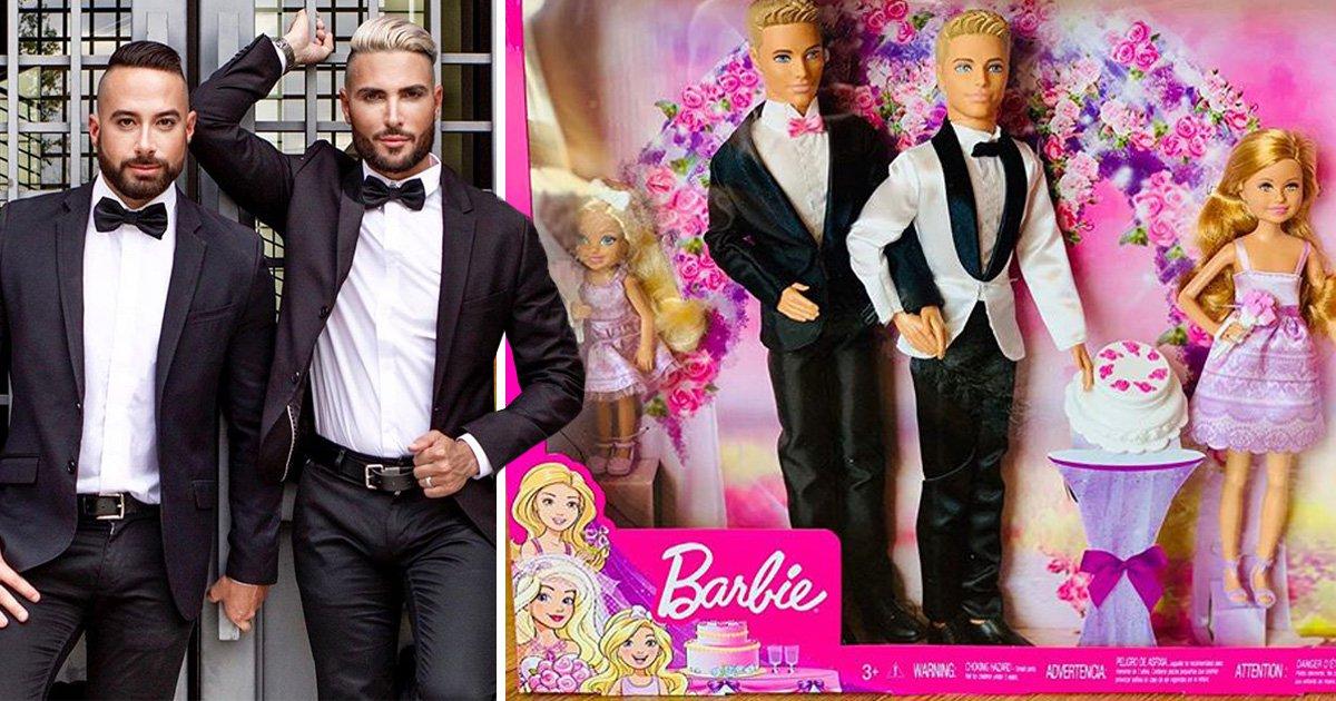Same-sex couple create gay wedding Barbie doll set for niece