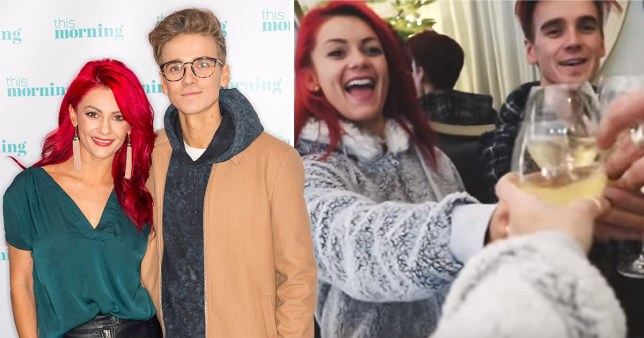 Back To Christmas.Joe Sugg And Dianne Buswell Separate For Christmas Metro News