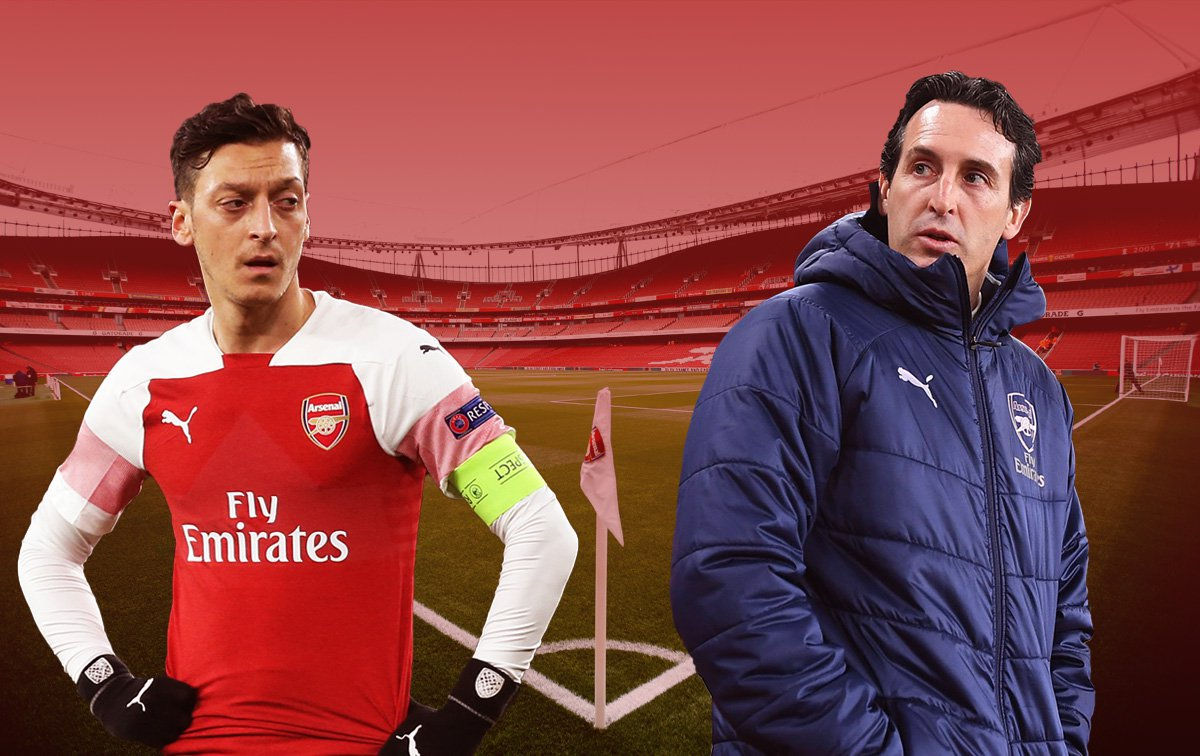 How Unai Emery's relationship with Arsenal star Mesut Ozil has broken down
