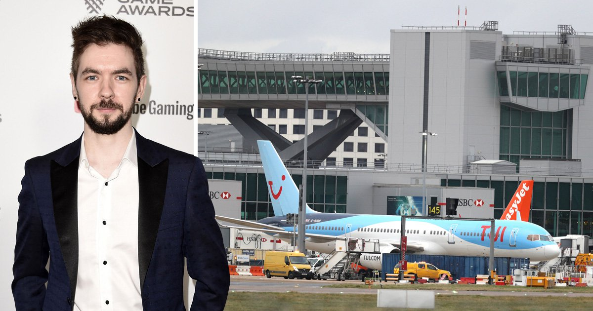 Jacksepticeye reveals Gatwick Airport chaos has delayed his YouTube videos by two weeks