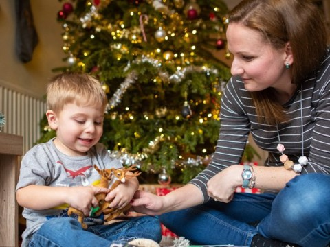 Two-year-old boy born with a heart condition is controlling a street of Christmas lights with his heartbeat