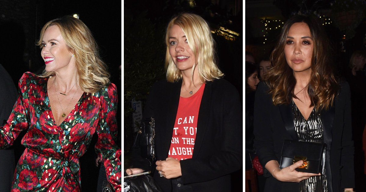 Holly Willoughby and Myleene Klass join star-studded guest list at Piers Morgan's Christmas party