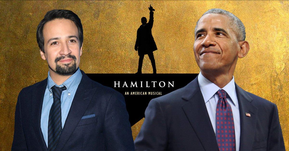 Barack Obama features on Lin-Manuel Miranda's new Hamilton song remix