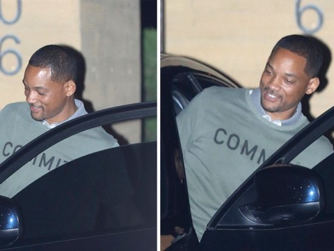 Will Smith is all smiles as he brushes off Genie backlash to enjoy swanky dinner