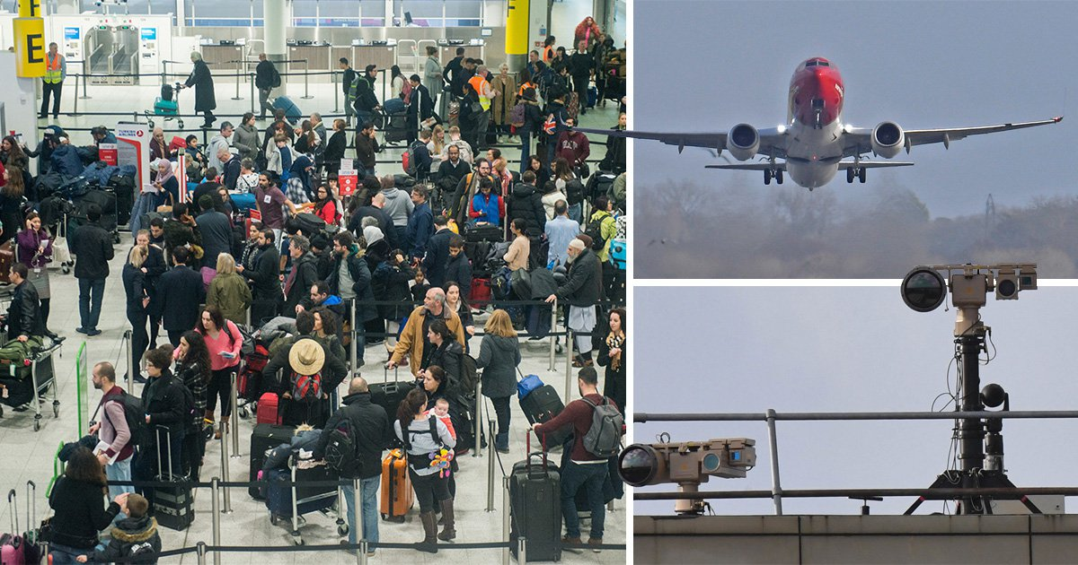 Gatwick closed again as 'another drone spotted near runway'