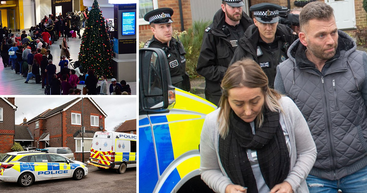 Couple arrested over Gatwick drone chaos released without charge