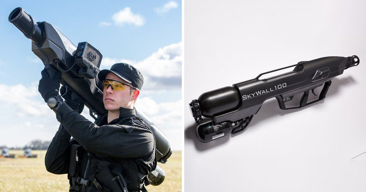 Bazookas that bring down drones tested at UK airport over fears of Gatwick copycats