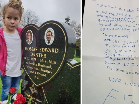 Little girl writes letter to her dad in heaven and receives a reply from Royal Mail staff