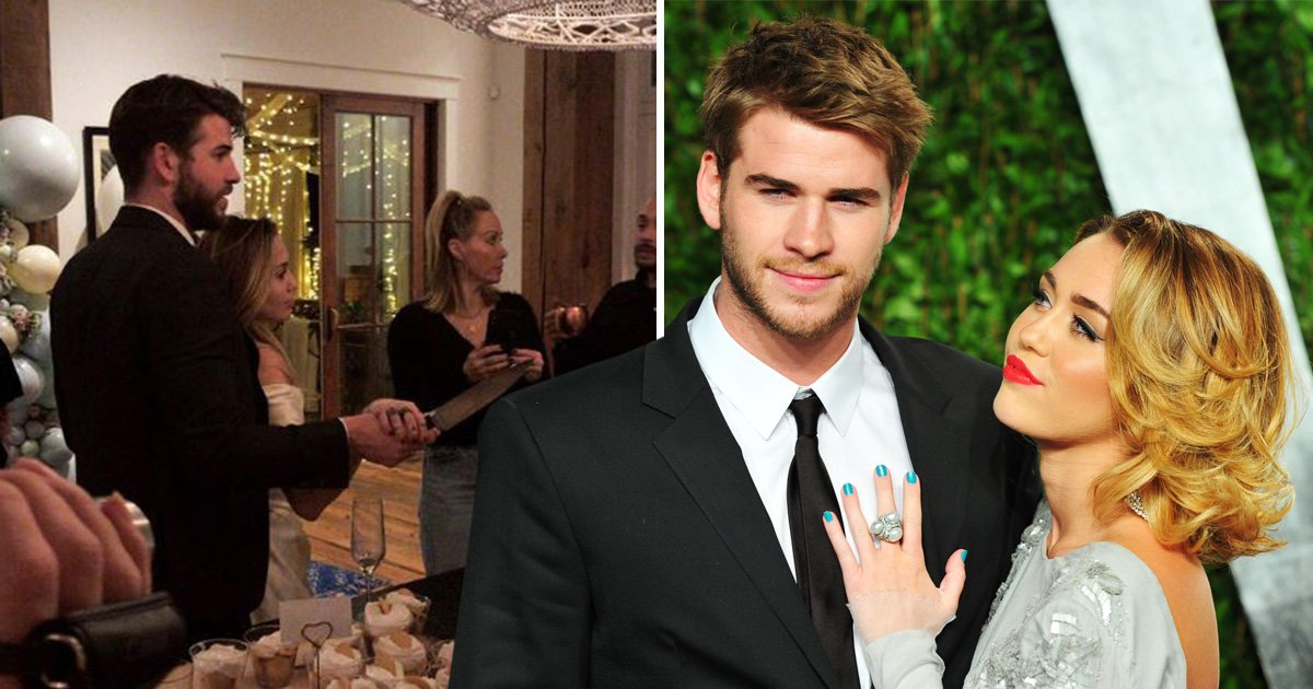 Miley Cyrus and Liam Hemsworth 'marry in low key ceremony' complete with shot paddle