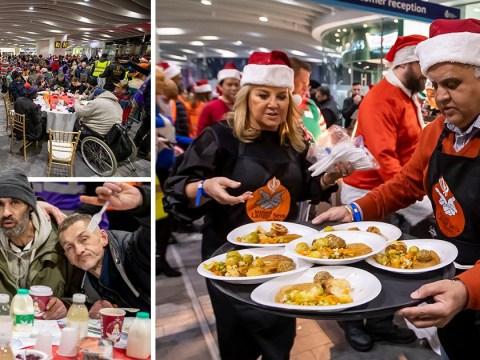 Birmingham train station hosts Christmas dinner for 200 homeless people