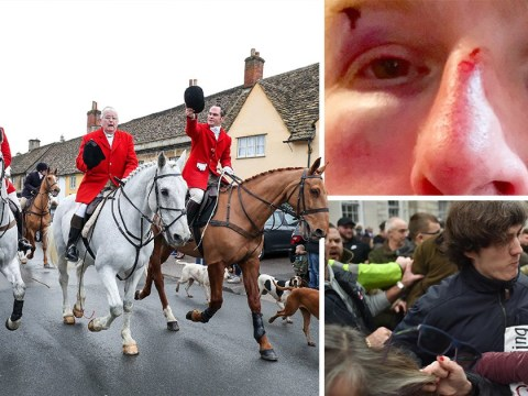 Violence erupts at traditional Boxing Day hunts as supporters and protesters clash
