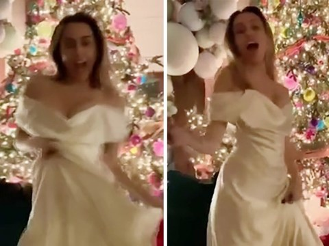 'Ecstatic' Miley Cyrus performs a sexy wedding dance to Uptown Funk after 'intimate ceremony at home'