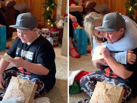 Boy gets the perfect Christmas surprise when his aunt offers to adopt him