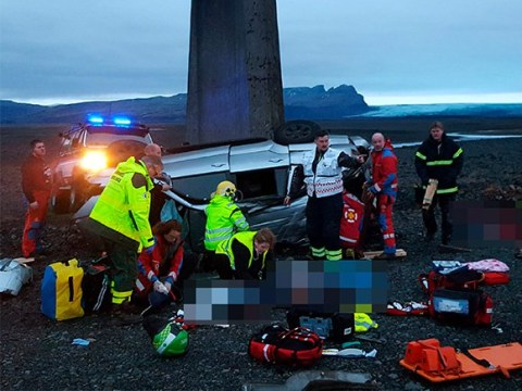 Three Brits including child dead after car plunges off bridge in Iceland