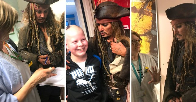 Johnny Depp Reprises Jack Sparrow Role To Surprise Cancer Patients
