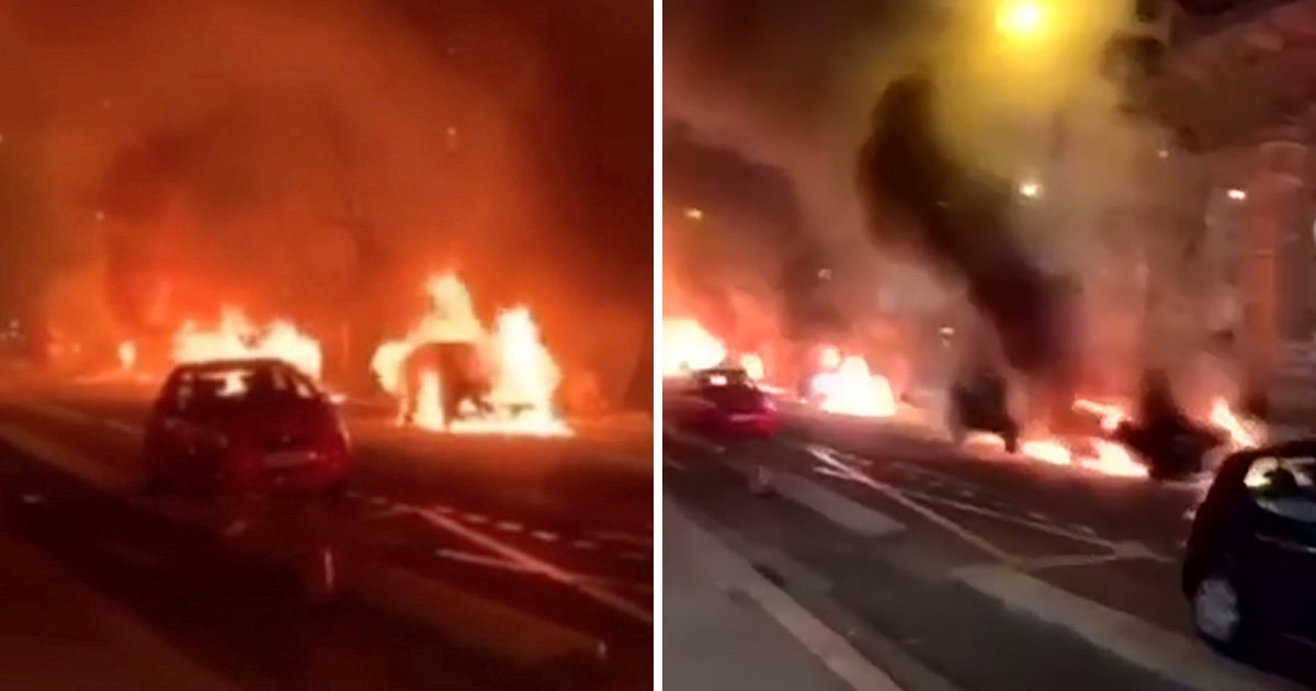 Eiffel Tower masked by black smoke as 'Yellow Vest' clash turns violent