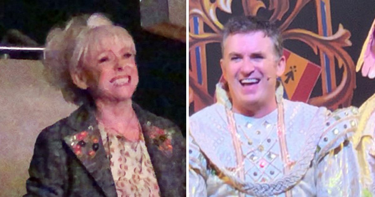Barbara Windsor supports former EastEnder's co-star Shane Richie at panto amid Alzheimer's battle
