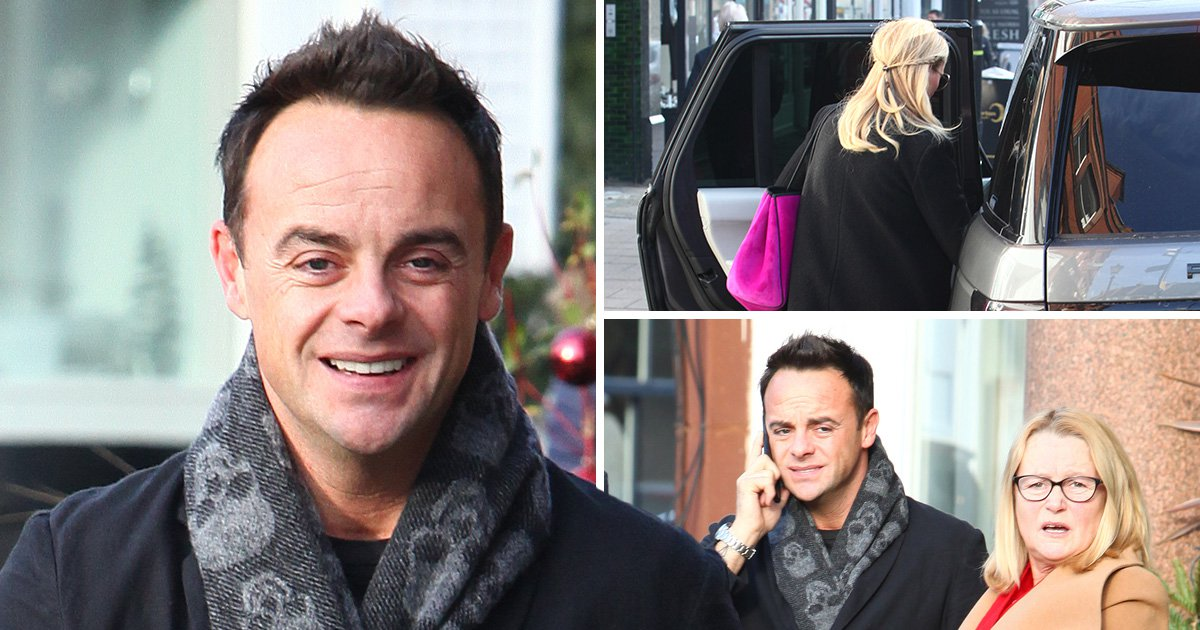 Ant McPartlin joined by mum and new girlfriend as he 'returns to work' after arrest