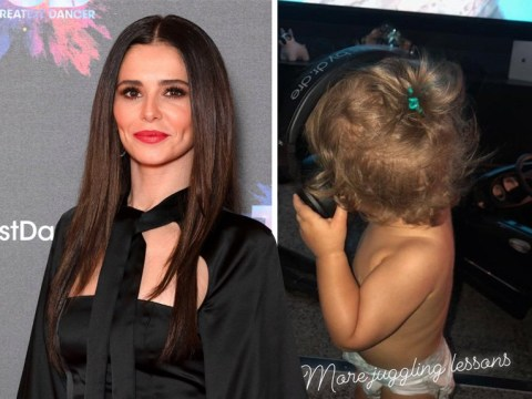 Cheryl shares snaps of son Bear listening to music as she reminisces over 2018