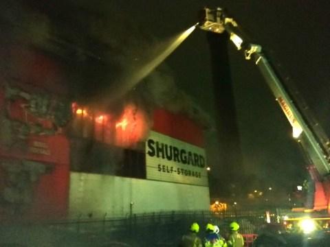 Over 120 firefighters battling huge blaze at self-storage warehouse in London