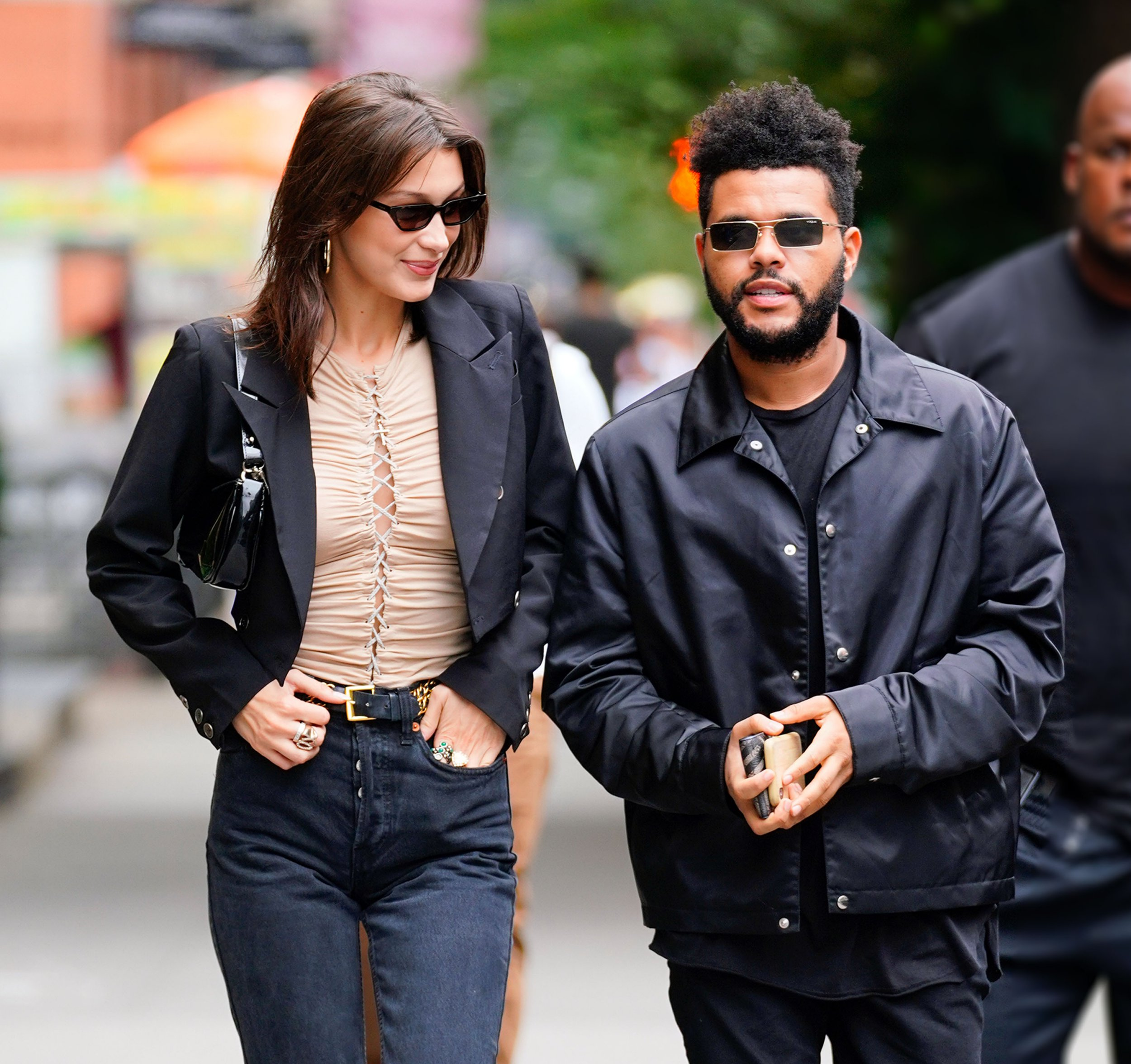 Bella Hadid is all smiles as she goes to her birthday lunch with The Weeknd in New York Pictured: Bella Hadid,The Weeknd Ref: SPL5031798 091018 NON-EXCLUSIVE Picture by: Jackson Lee / SplashNews.com Splash News and Pictures Los Angeles: 310-821-2666 New York: 212-619-2666 London: 0207 644 7656 Milan: +39 02 4399 8577 Sydney: +61 02 9240 7700 photodesk@splashnews.com World Rights,