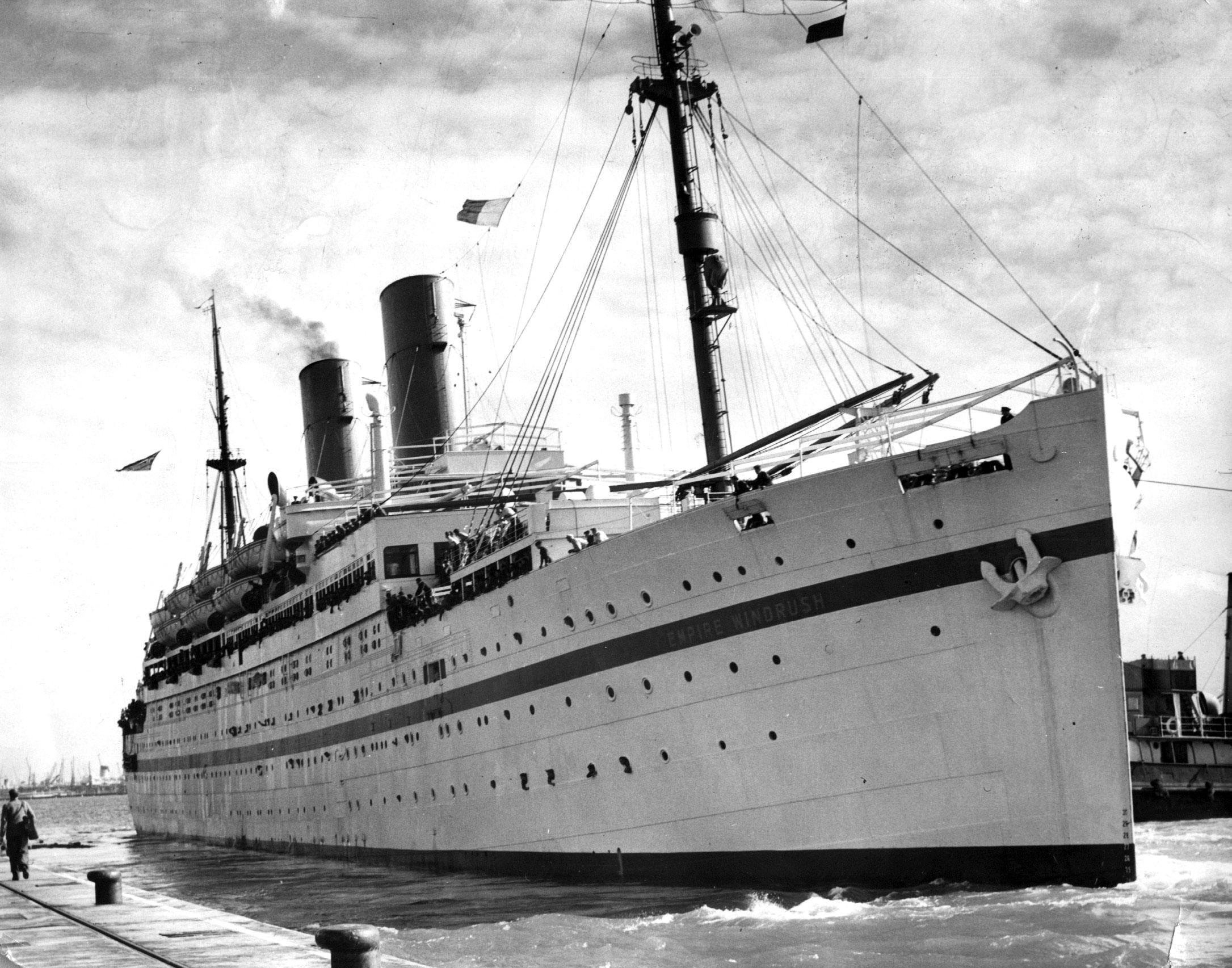 """File photo dated 28/03/54 of the Empire Windrush ship. Ministers have revealed 49 people deported to Commonwealth countries have not been contacted by the Windrush task force, leading MPs to claim the Home Office """"hasn't learned anything"""" from the scandal. PRESS ASSOCIATION Photo. Issue date: Monday December 3, 2018. See PA story POLITICS Windrush. Photo credit should read: PA/PA Wire"""