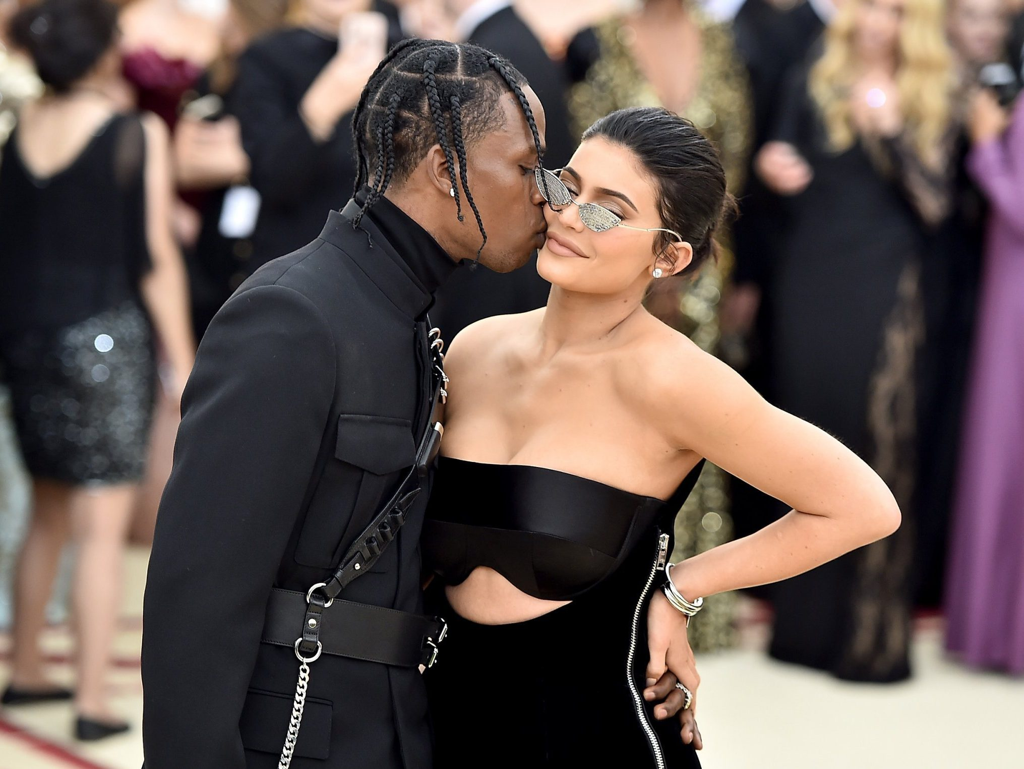 Travis Scott gets thirsty over Kylie Jenner's lingerie picture