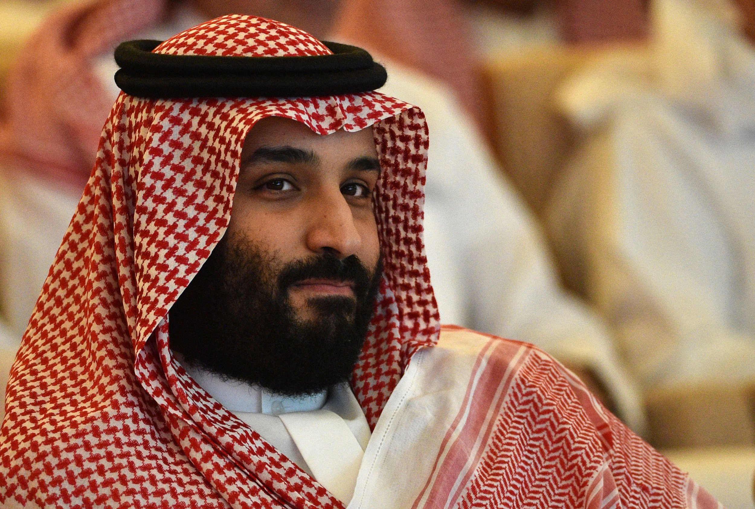 TOPSHOT - Saudi Crown Prince Mohammed bin Salman attends the Future Investment Initiative (FII) conference in the Saudi capital Riyadh on October 23, 2018. - Saudi Arabia is hosting the key investment summit overshadowed by the killing of critic Jamal Khashoggi that has prompted a wave of policymakers and corporate giants to withdraw. (Photo by FAYEZ NURELDINE / AFP) (Photo credit should read FAYEZ NURELDINE/AFP/Getty Images)