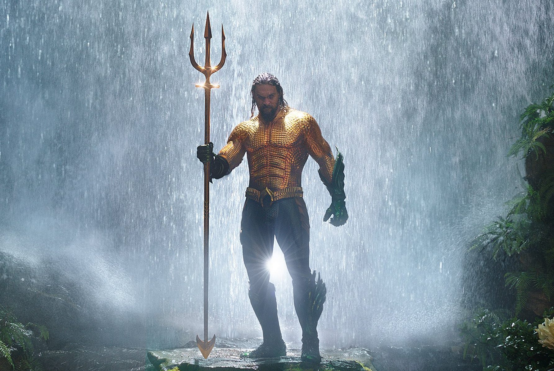 """This image released by Warner Bros. Pictures shows Jason Momoa in a scene from """"Aquaman."""" (Warner Bros. Pictures via AP)"""