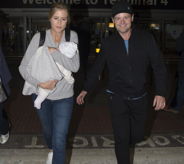 BGUK_1432763 - London, UNITED KINGDOM - Dec Donnelly and wife Ali Astall touch down in London with baby daughter along with the Im A Celebrity contestants Pictured: Declan Donnelly, Ali Astall BACKGRID UK 12 DECEMBER 2018 *STRICTLY NOT AVAILABLE FOR ANY SUBSCRIPTION DEALS* UK: +44 208 344 2007 / uksales@backgrid.com USA: +1 310 798 9111 / usasales@backgrid.com *UK Clients - Pictures Containing Children Please Pixelate Face Prior To Publication*