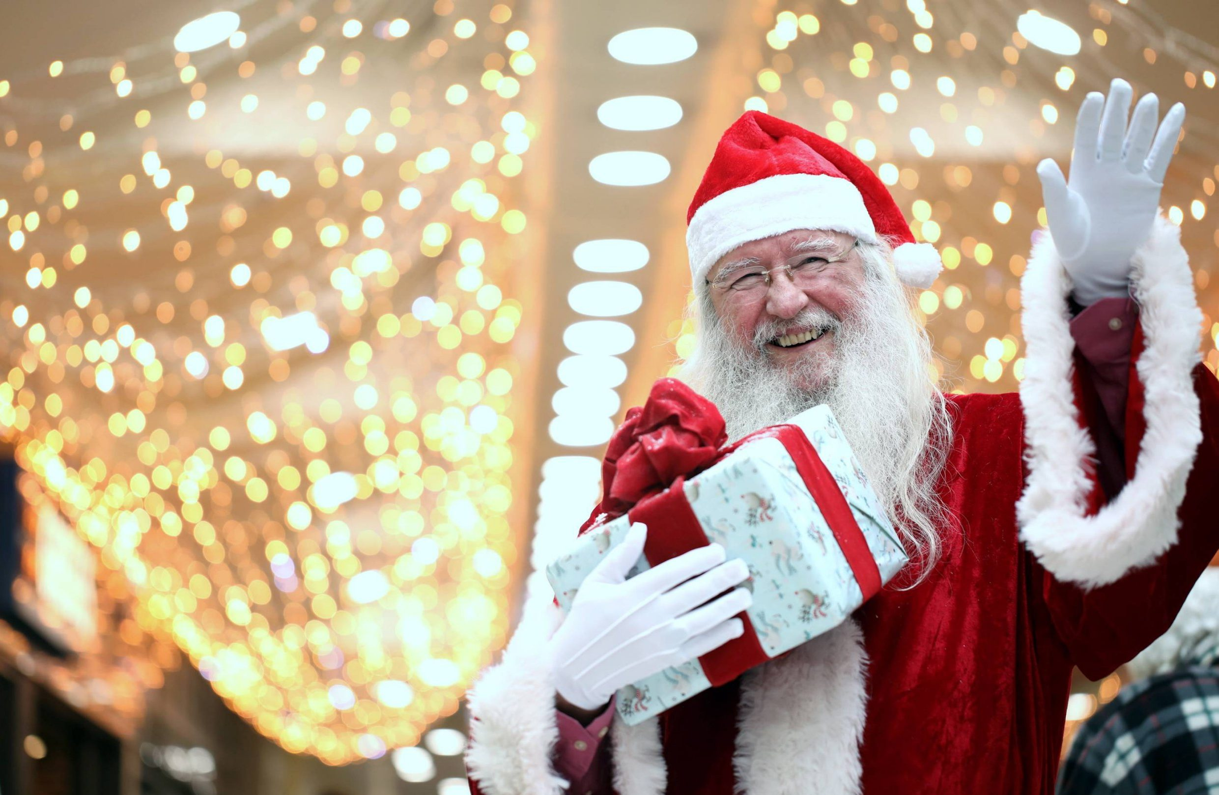 Dated: 12/12/2018 Santa Claus at the Castlegate Shopping Centre in Stockton-on-Tees, where parents were left horrified when an angry mum spat in the face of an elf at the centre's Christmas grotto. See story North News