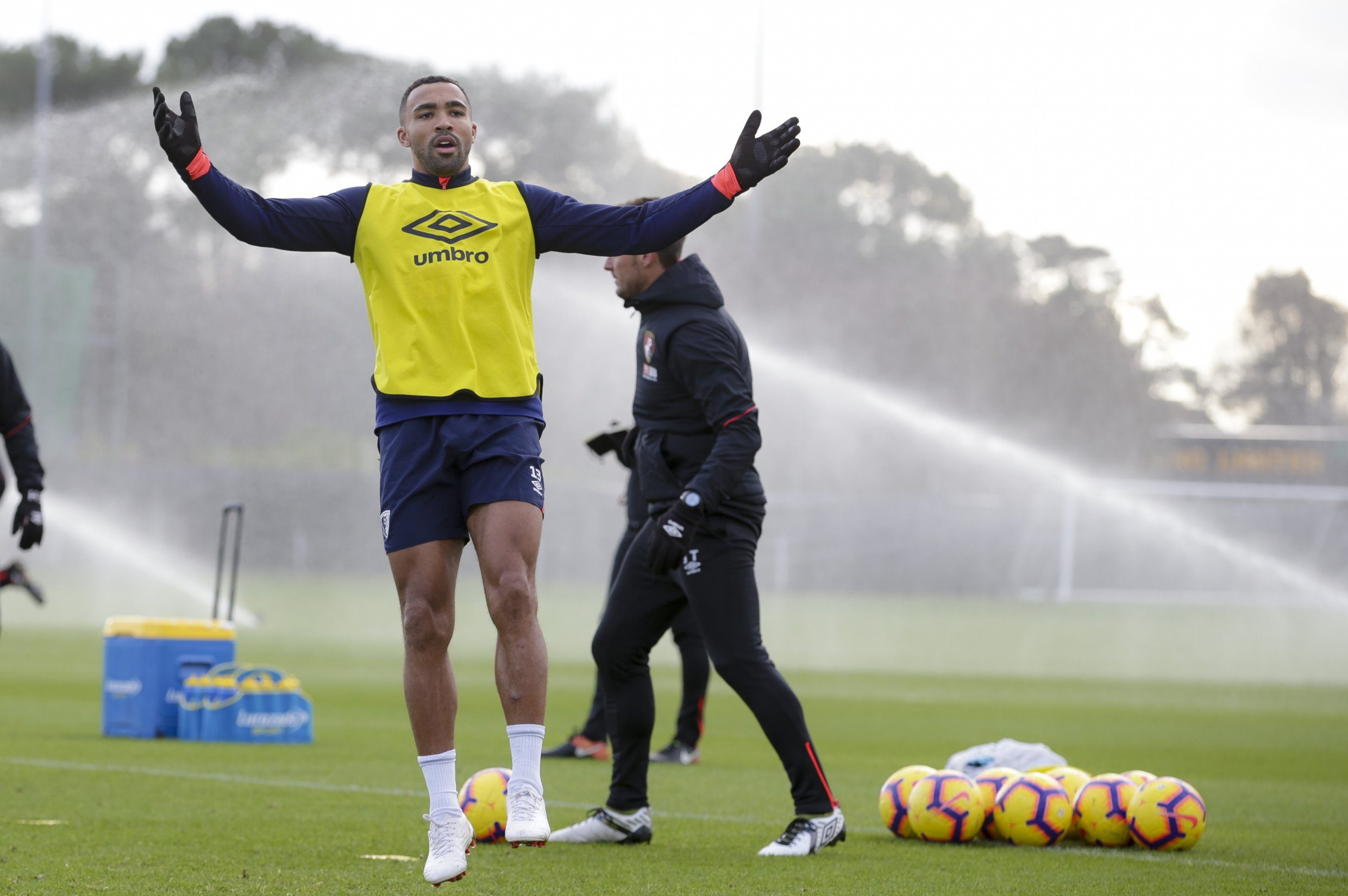 BOURNEMOUTH, ENGLAND - DECEMBER 12: Callum Wilson of Bournemouth during a training session at Vitality Stadium on December 12, 2018 in Bournemouth, England. (Photo by AFC Bournemouth/AFC Bournemouth via Getty Images)