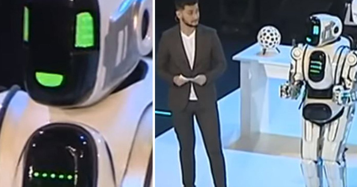 'Hi-tech' Russian robot turns out to be a man wearing a suit