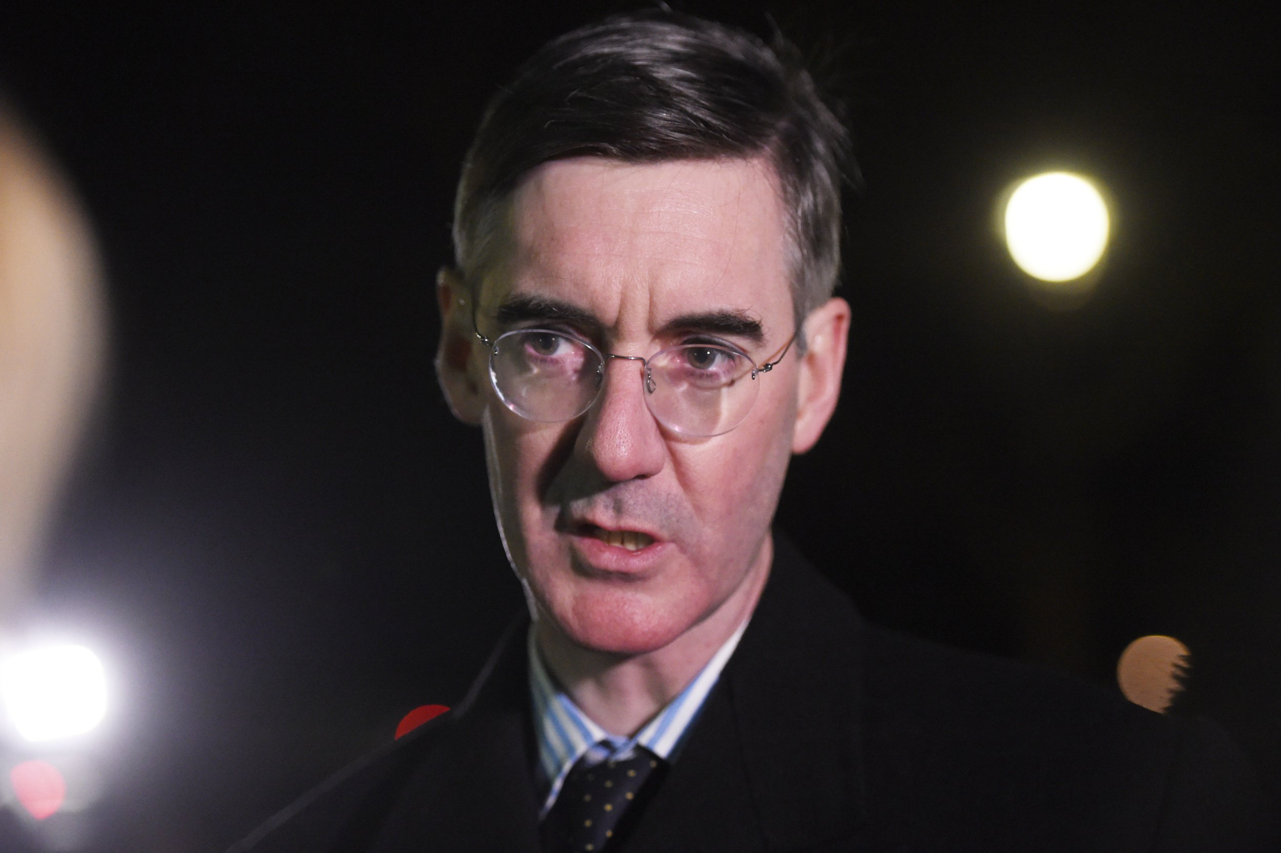 Conservative MP Jacob Rees-Mogg outside the Houses of Parliament in Westminster, London, after Prime Minister Theresa May survived an attempt by Tory MPs to oust her with a vote of no confidence. PRESS ASSOCIATION Photo. Picture date: Wednesday December 12, 2018. See PA story POLITICS Brexit. Photo credit should read: David Mirzoeff/PA Wire