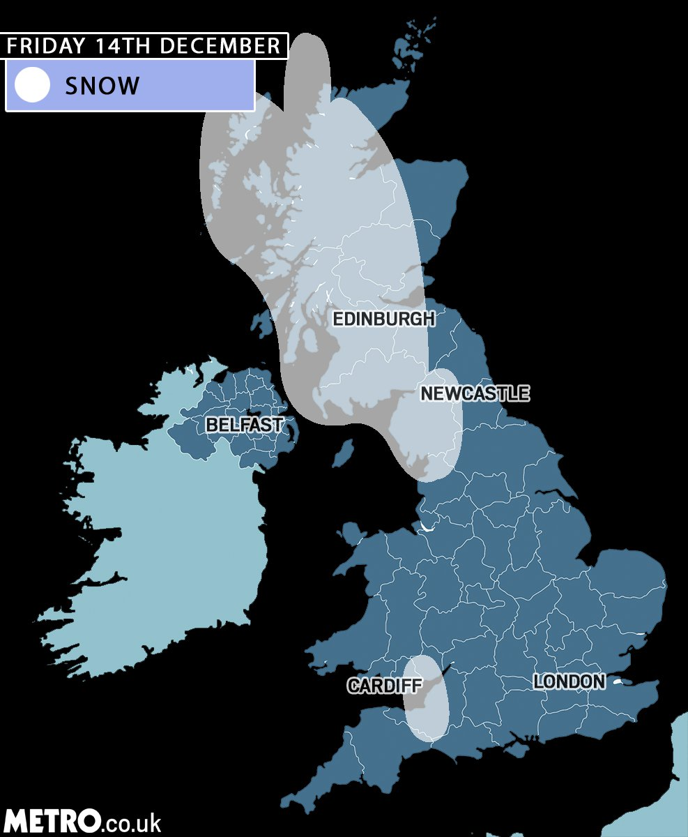 Polar vortex to sent temperatures plummeting with snow on its way for large parts of UK Metro.co.uk