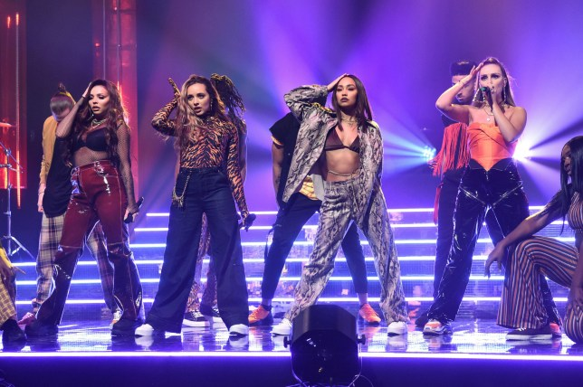 Little Mix, (left to right) Jesy Nelson, Jade Thirlwall, Leigh-Anne Pinnock and Perrie Edwards, during the filming of the Graham Norton Show at BBC Studioworks 6 Television Centre, Wood Lane, London, to be aired on BBC One on Friday evening. PRESS ASSOCIATION Photo. Picture date: Wednesday November 28, 2018. Photo credit should read: PA Images on behalf of So TV