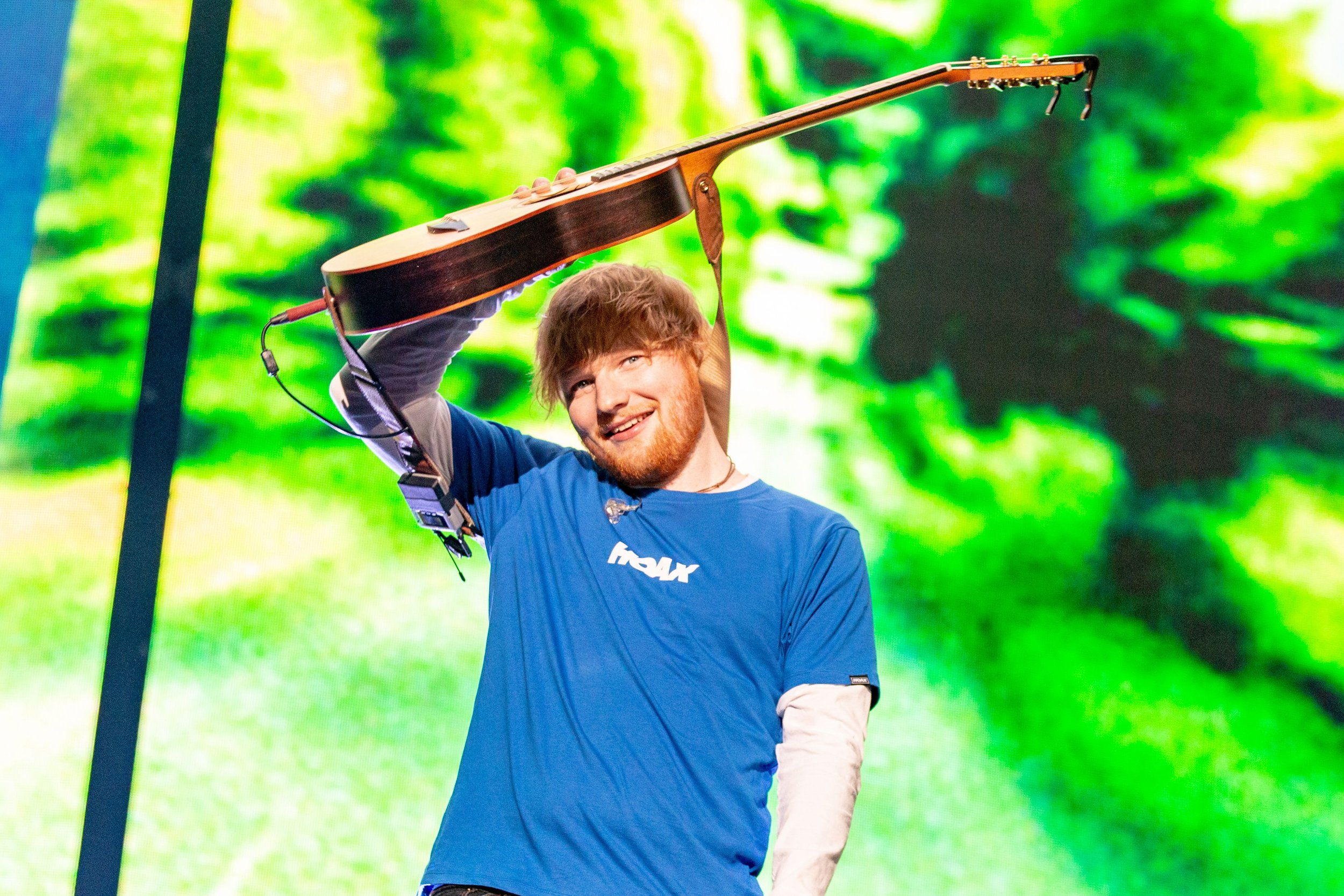 Mandatory Credit: Photo by RMV/REX/Shutterstock (9946526o) Ed Sheeran Ed Sheeran in concert at Miller Park, Milwaukee, USA - 24 Oct 2018