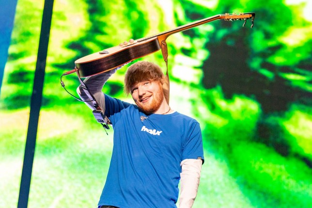 Mandatory Credit: Photo by RMV/REX/Shutterstock (9946526o) Ed Sheeran Ed Sheeran in concert at Miller Park, Milwaukee, USA - 24 Oct 2018