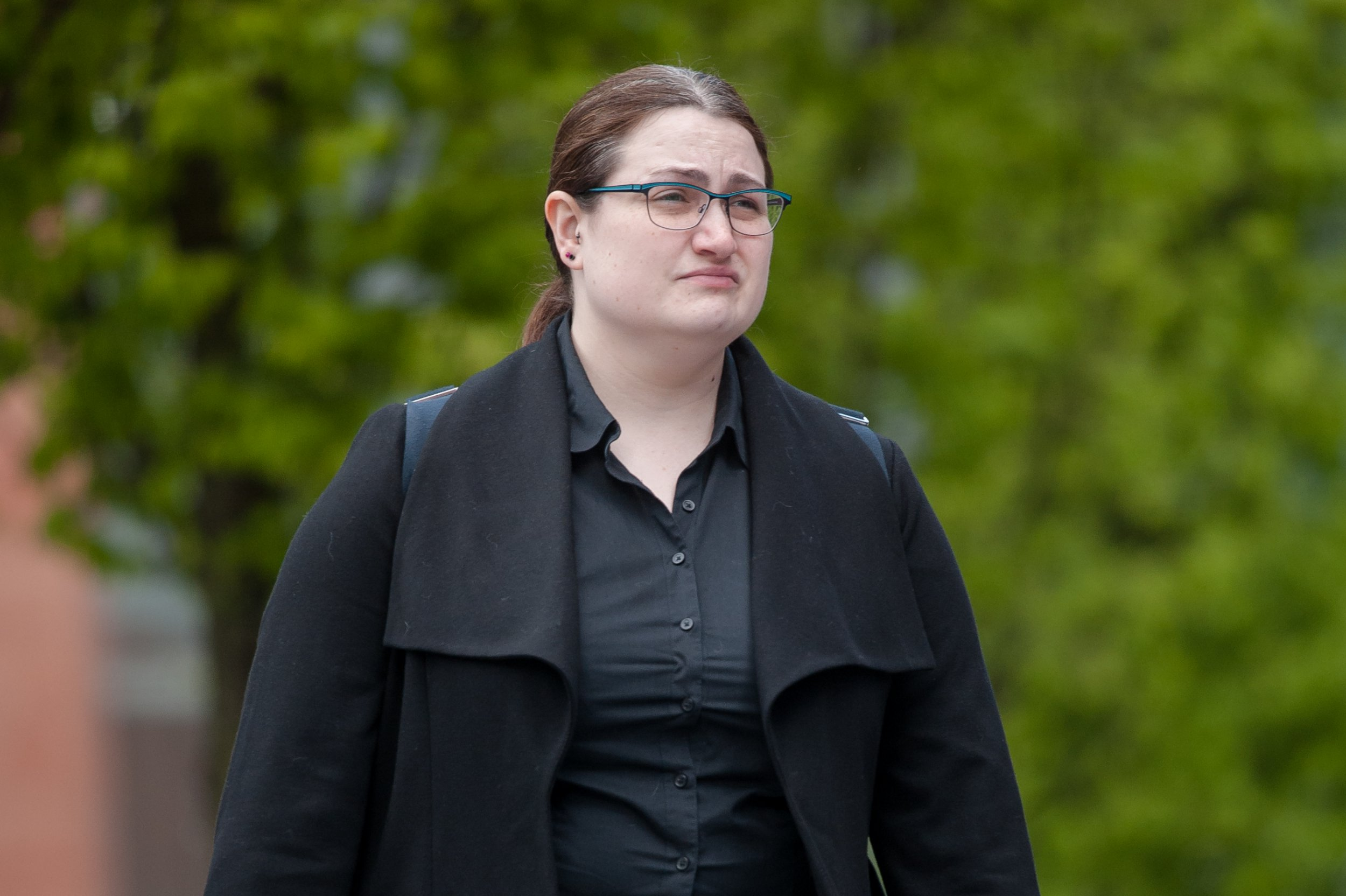 Laura Nixon-Corfield, an NHS administrator outside court. She led a secret double life as an online paedophile but escaped jail after she said her squalid behaviour occurred during an abusive romance she was having with her boyfriend.Disclaimer: While Cavendish Press (Manchester) Ltd uses its' best endeavours to establish the copyright and authenticity of all pictures supplied, it accepts no liability for any damage, loss or legal action caused by the use of images supplied. The publication of images is solely at your discretion. For terms and conditions see http://www.cavendish-press.co.uk/pages/terms-and-conditions.aspx