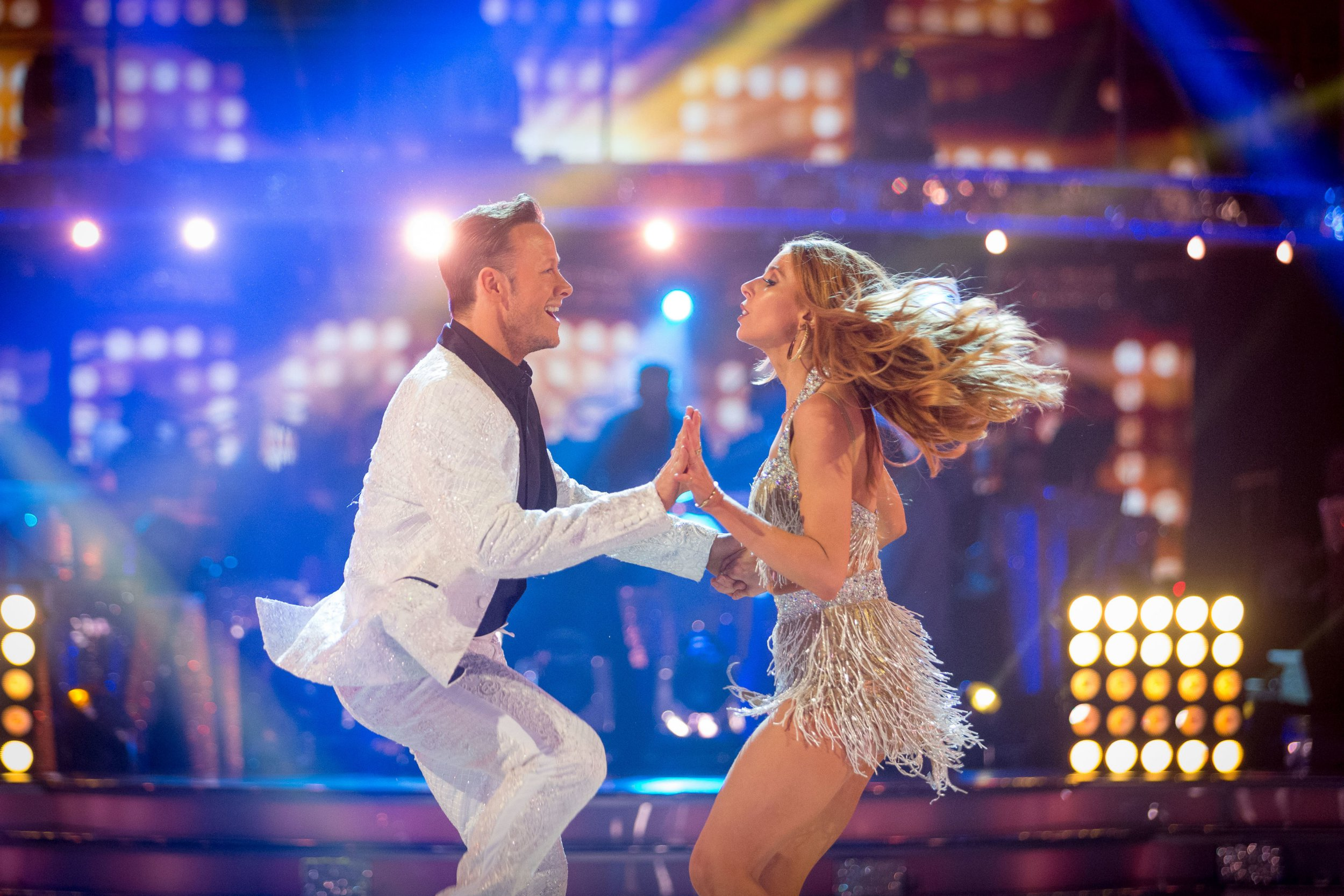 Embargoed to 2100 Saturday December 15 For use in UK, Ireland or Benelux countries only Undated BBC handout photo of Kevin Clifton and Stacey Dooley taking part in a dress rehearsal ahead of Saturday's Strictly Come Dancing live final on BBC One. PRESS ASSOCIATION Photo. Issue date: Saturday December 15, 2018. See PA story SHOWBIZ Strictly. Photo credit should read: Guy Levy/BBC/PA Wire NOTE TO EDITORS: Not for use more than 21 days after issue. You may use this picture without charge only for the purpose of publicising or reporting on current BBC programming, personnel or other BBC output or activity within 21 days of issue. Any use after that time MUST be cleared through BBC Picture Publicity. Please credit the image to the BBC and any named photographer or independent programme maker, as described in the caption.