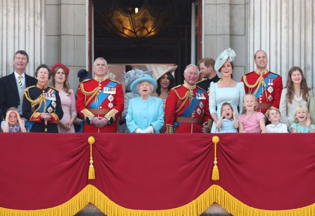 The Royal Family at the 2018 Trooping The Colour ceremony