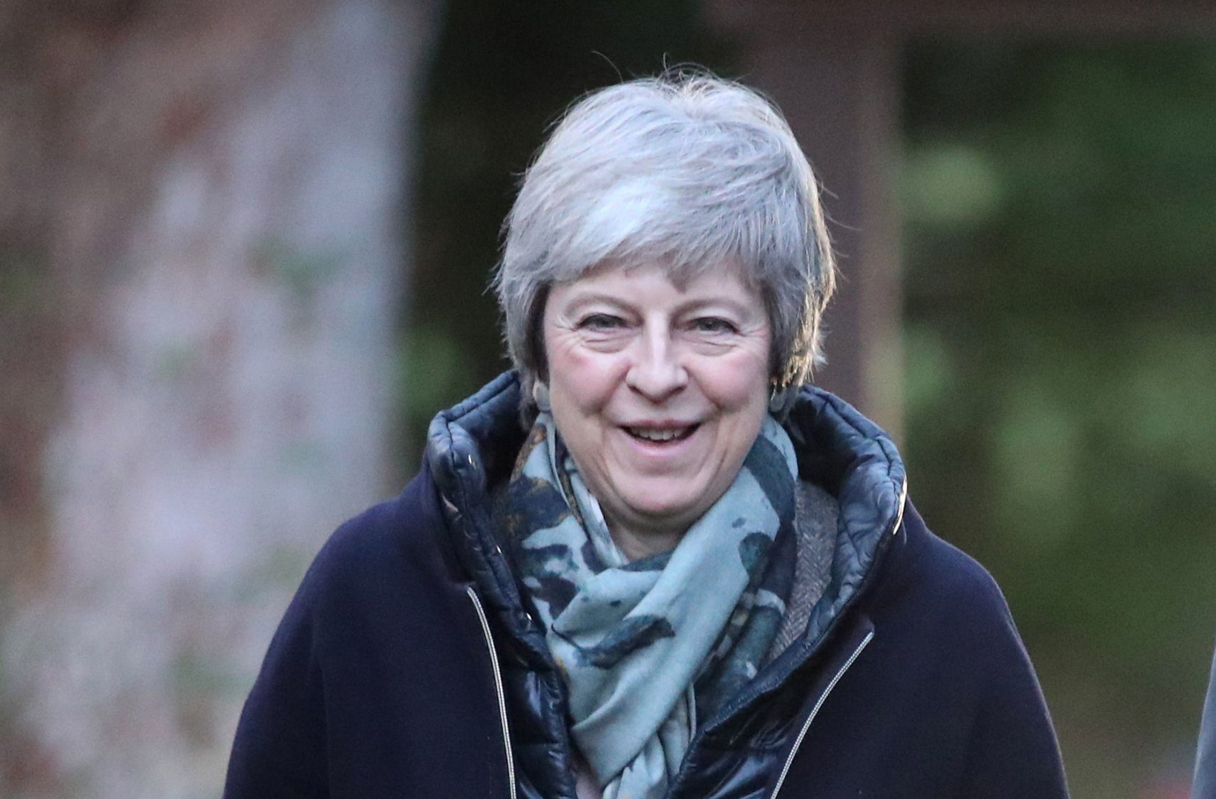 Prime Minister Theresa May arrives for a church service near her Maidenhead constituency. PRESS ASSOCIATION Photo. Picture date: Sunday December 16, 2018. See PA story POLITICS Brexit. Photo credit should read: Andrew Matthews/PA Wire