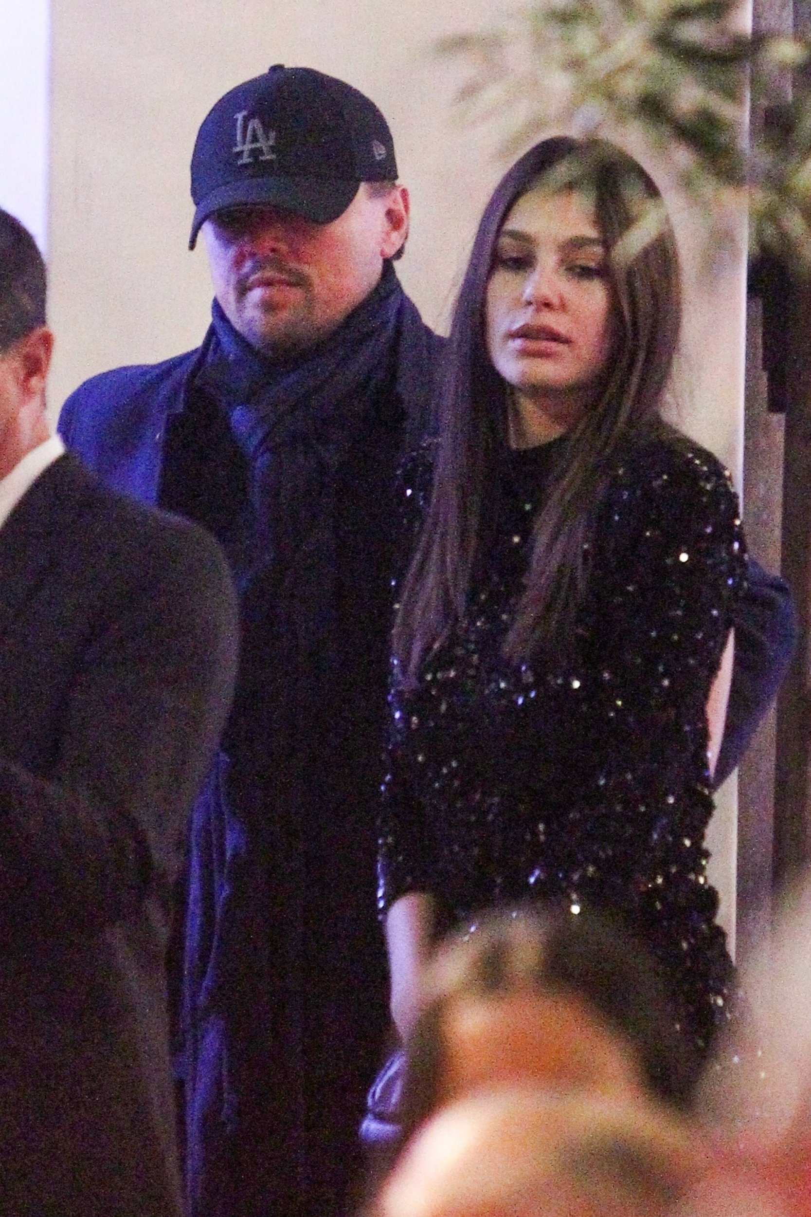 Beverly Hills, CA - *EXCLUSIVE* - Leonardo Dicaprio, 44, and 21 year old girlfriend Camila Morrone enjoy a night among the stars at Seth MacFarlane's holiday party. Camila sparkles in a festive and sexy sequin cocktail dress with a back cutout as her beau kept a low profile in navy. Camila's mom model Lucila Sola was also spotted at the celebrity studded party. Pictured: Leonardo Dicaprio, Camila Morrone BACKGRID USA 16 DECEMBER 2018 BYLINE MUST READ: Roger / BACKGRID USA: +1 310 798 9111 / usasales@backgrid.com UK: +44 208 344 2007 / uksales@backgrid.com *UK Clients - Pictures Containing Children Please Pixelate Face Prior To Publication*