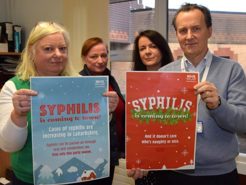 Festive warning that 'syphilis is coming to town' if you have unprotected sex this Christmas