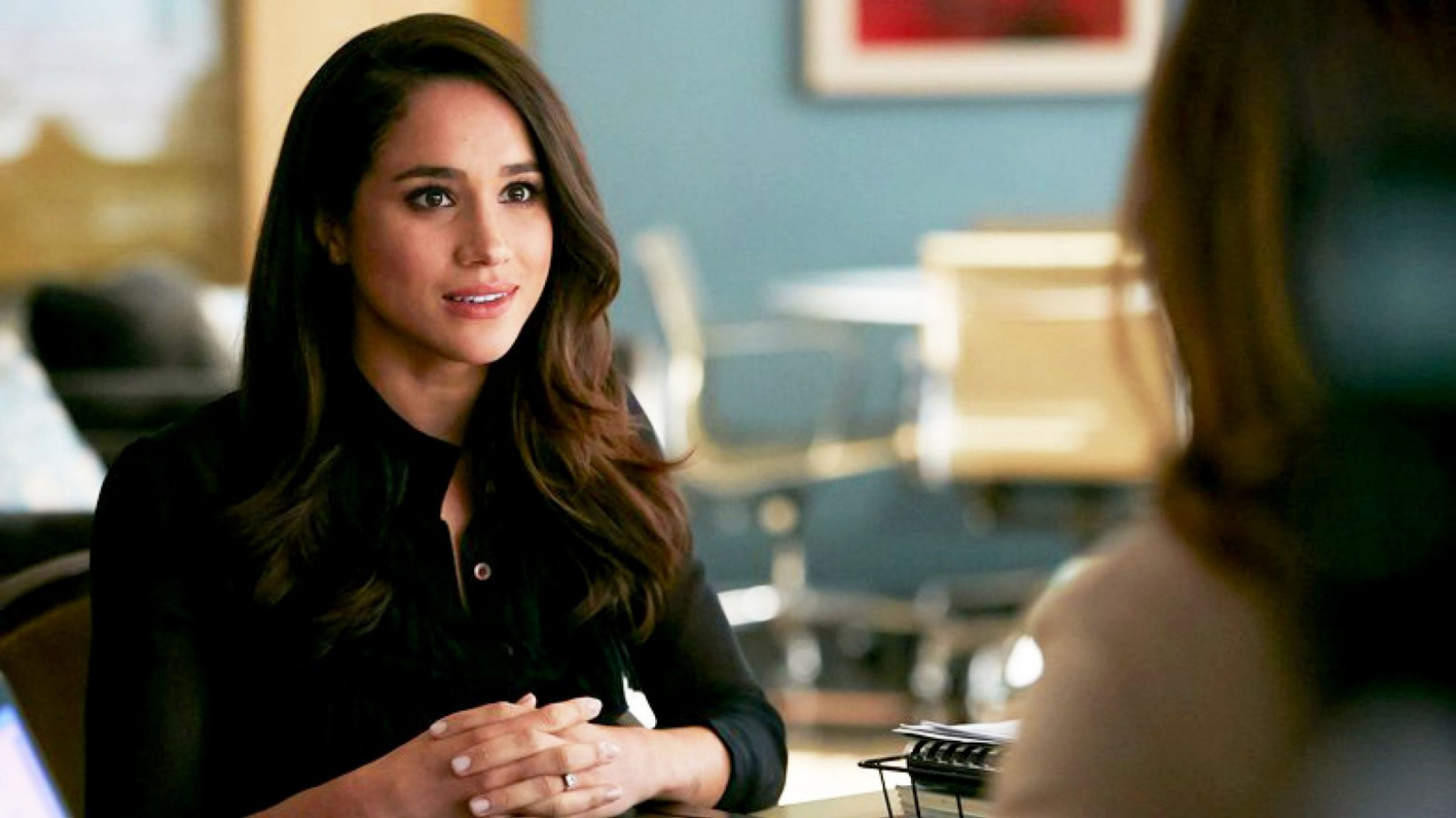 """Editorial use only. No book cover usage. Mandatory Credit: Photo by Usa Network/Netflix/Kobal/REX/Shutterstock (9252511c) Meghan Markle """"Suits"""" (Season 7) TV Series - 2017"""