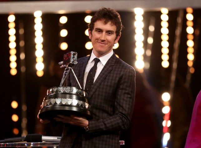 Geraint Thomas poses with the BBC Sports Personality of the Year award during the BBC Sports Personality of the Year 2018 at Birmingham Genting Arena. PRESS ASSOCIATION Photo. Picture date: Sunday December 16, 2018. See PA story SPORT Personality. Photo credit should read: David Davies/PA Wire