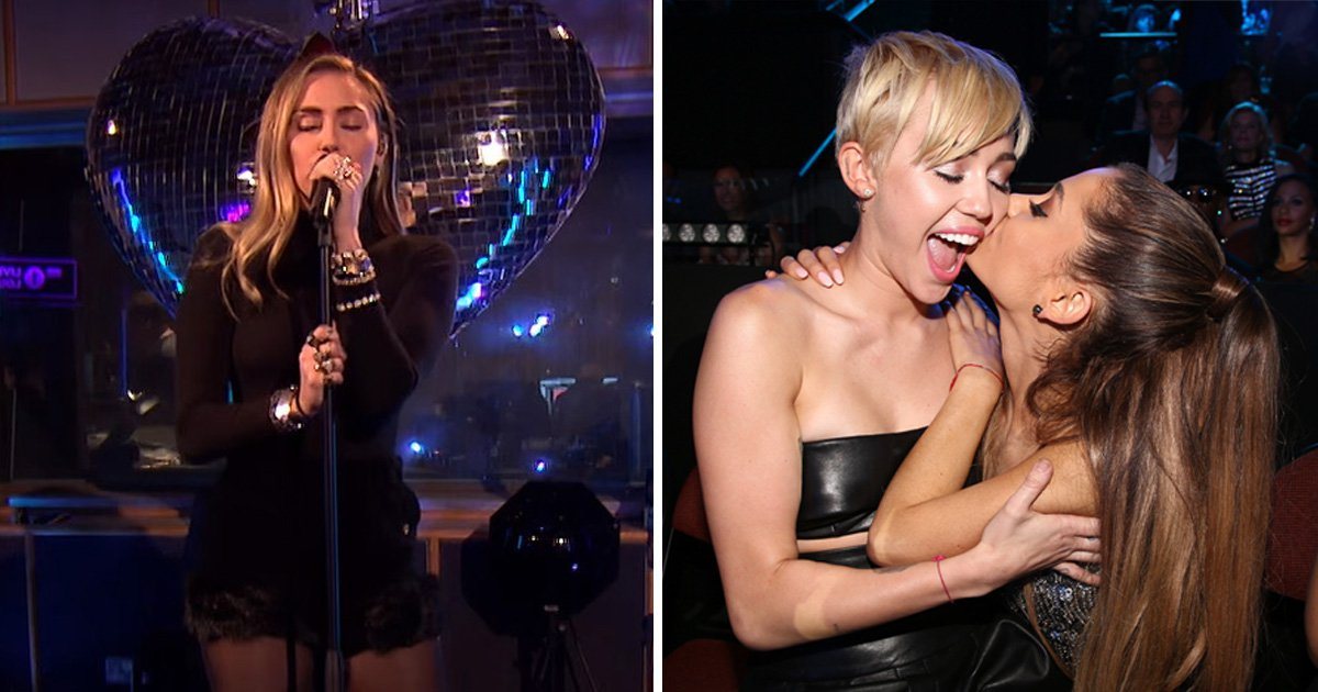 Miley Cyrus just did an epic cover of Ariana Grande's No Tears Left To Cry